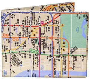 Dynomighty Design Men's NYC Subway Map Mighty Wallet