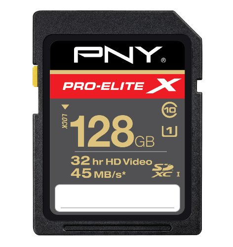 PNY SDXC Class 10 High Speed Flash Memory Card (P-SDX128U2-GES3)