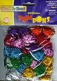 """Glitter Poms Pons; 1"""" Asst. Colors; 40 Piece Bag"""
