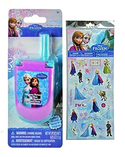 Disney Frozen Lip Gloss Cell Phone Featuring Elsa & Anna! Plus Bonus Disney Frozen 25pk Sticker Sheet! by Cardinal