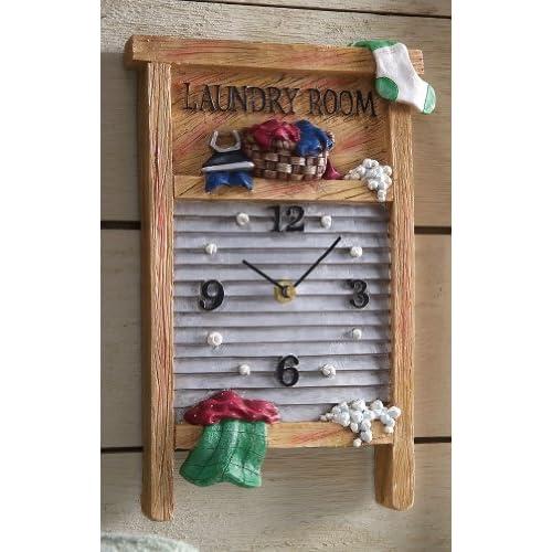 Amazon.com - Laundry Room Vintage Washboard Wall Clock by Winston