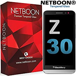 Blackberry Z30 NETBOON® Premium Tempered Glass Screen Protector [0.3mm 9H Hardness] [3D Touch Compatible][Premium HD Shockproof] Worlds Best PET Glass for Blackberry Z30 [Most Durable Screen Guard ]