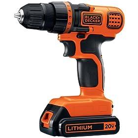 BLACK+DECKER LDX120C 20-Volt MAX Lithium-Ion Cordless Drill/Driver