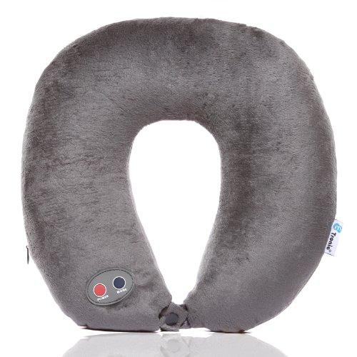 Etronic ® Ultra Comfort Massage Travel Neck Pillow ET-105 – 6 Massage Modes – Headrest Strap – CE Certified [3-Year Warranty]