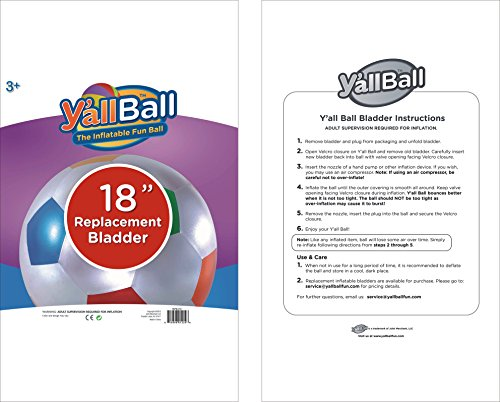 Y'all Ball 18 Inch Inflatable Replacement Bladder - 1