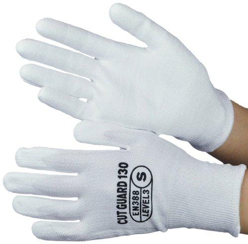 ミドリ安全 《EN388カットレベル3クリア》 耐切創手袋 カットガード130 (S/1双)