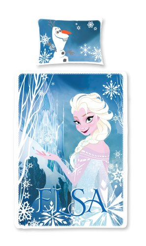 135 X 200 Cm Disney Frozen Elsapanel Duvet Set, Multi-color By Character World