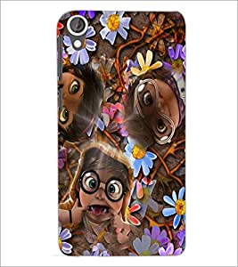 PrintDhaba Faces D-2622 Back Case Cover for HTC DESIRE 820 (Multi-Coloured)