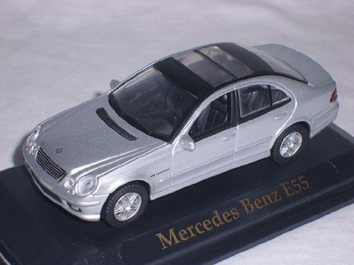 Mercedes-Benz E55 E 55 AMG E-klasse Limousine W211 Silber 1/43 Yatming Modellauto Modell Auto