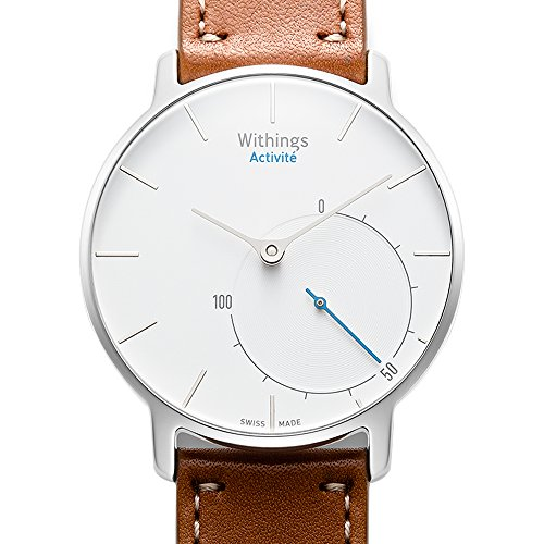 Withings スイス製スマートウォッチ Activité 充電不要/歩数/消費カロリー/睡眠/50m防水 シルバー 70055201【日本正規代理店品】