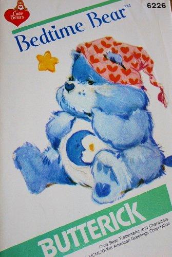 Care Bear Bedtime Bear Sewing Pattern Butterick 6226 Vintage 1983 Stuffed Bear front-522998