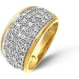 Damen-Ring 9 Karat (375) Gelbgold Diamant PR03310Y-J-p