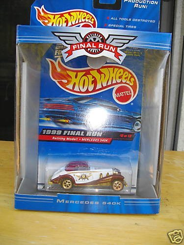 1999 Hot Wheels Final Run MERCEDES 540K # 9 of 12 - 1