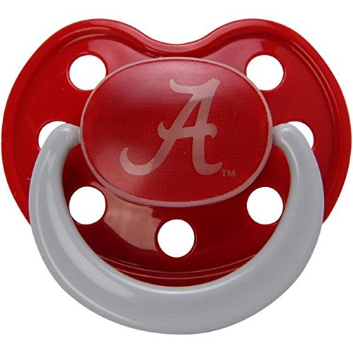 Alabama Crimson Tide Glow in Dark 2-Pack Baby Pacifier Set - NCAA Infant Pacifiers