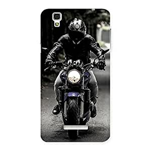 Impressive Bike Rider Multicolor Back Case Cover for YU Yureka Plus