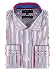 Boxed Autograph Pure Cotton Multi-Striped Shirt