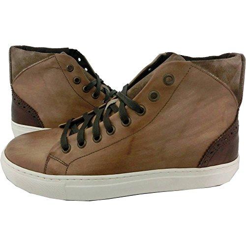 Scarpe Uomo Exton 972 0702 - Sneaker made in italy, vintage camel anticato steppa, Marrone (40)