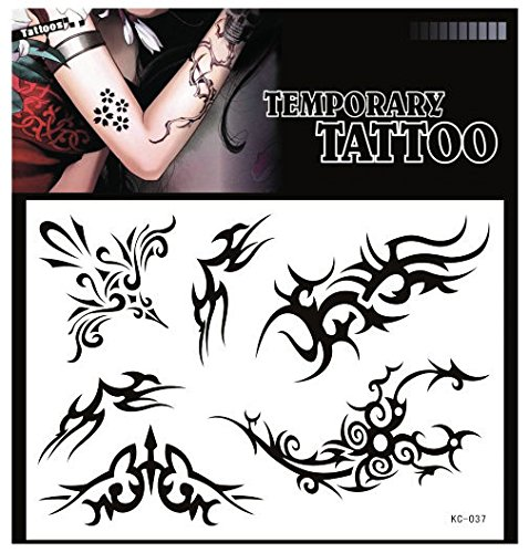 SYZ Beauty Waterproof Temporary Tattoos Pretty Totem Tattoos