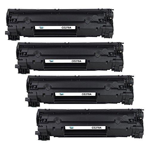 Cool Toner compatible CE278A per HP LaserJet M1536 MFP M1536DNF P1560 P1566 P1606 P1606DN,FAX L190,imageClass MF4570 4570DN 4550 4452 4450 4550D 4410 4420 4420N 4412 4412DN, 2100 pagine,Nero,Confezione da 4 pezzi