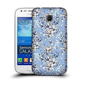 MobileGlaze Designs Elegant Floral Pattern Light Blue Hard Back Case Cover for Samsung Galaxy Ace 3