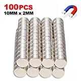 Coerni 100 Pack Strong Disc Neodymium Magnet - Durable Mini Magnets For Multi-Use, Diameter 3.94