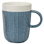 Blue Cable Knit Mug