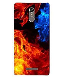 Case Cover Fire Printed Colorful Soft Back Cover For Gionee S6s