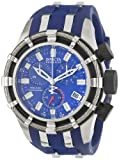 Invicta Men's 6433 Reserve Collection Chronograph Blue Rubber Watch