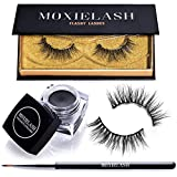 MoxieLash Flashy Bundle - MoxieLash Magnetic Gel Eyeliner for Magnetic Eyelashes - No Glue & Mess Free - Fast & Easy Application - Set of Flashy Lashes & Brush Included