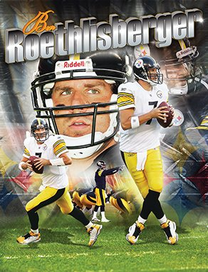 NFL Licensed 100 piece Pittsburgh Steelers Ben Roethlisberger Masterpieces Puzzle in a Box
