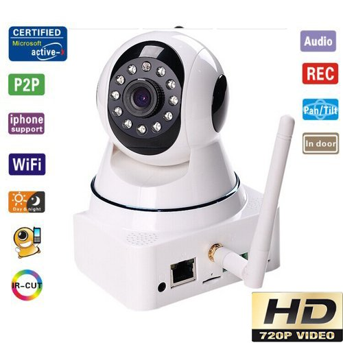 Ultravision High Quality Hd 720P Ip Camera Wireless Wifi With Pan/Tilt Sd Card Slot 1.3 Megapixel Cmos Lens And Ir Cut 720P(1280X720) (11-Led Night Vision, Two-Way Audio, Email Alerts) White front-215327