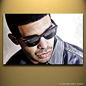 """Artist Signed Canvas Art Print (Small 14"""" x 9""""): Posters & Prints"""