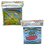 Pack of 2 One Of Each JungleTravel Baby Bath Time Book Colorful and Waterproof Soft Body Book