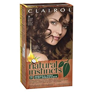 Clairol Natural Instincts Hair Color 26 Hot Cocoa Medium Bronze Brown 1 Kit  (Pack of 3)