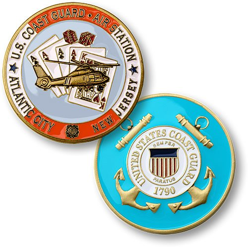 U.S. Coast Guard Air Station New Jersey Challenge Coin