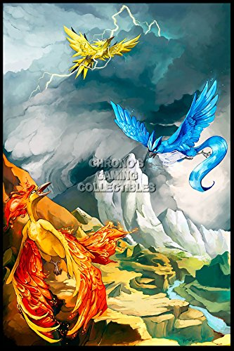 "CGC enorme - Poster Pokemon Articuno, zapods e colori Moltres - Nintendo Game Boy Advance DS 3DS - pok006, Carta, 24"" x 36"" (61cm x 91.5cm)"