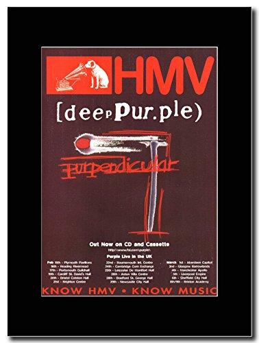 Deep Purple-UK Tour Purpendicular date Magazine Promo su un supporto, colore: nero