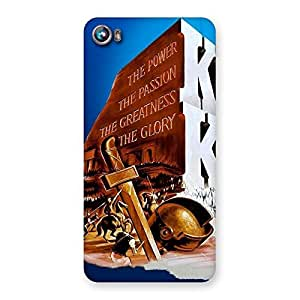 Gorgeous King Power Back Case Cover for Micromax Canvas Fire 4 A107