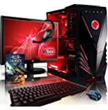 "VIBOX Sharp Shooter Package 7 - 4.0GHz Quad Core, GTX 750, 1TB, 16GB, Extreme, Online, Gaming, Gamer, Desktop PC, Computer Full Package with Windows 8.1, WarThunder Game Bundle Operating System, 22"" Monitor, Gamer Headset, LED Keyboard & Mouse Bundle and Neon Red Internal Lighting Kit PLUS a Lifetime Warranty Included* (4.0GHz AMD Quad Core Processor, 1GB Nvidia Geforce GTX 750 Graphics Card PSU, 1TB HDD Hard Drive, 16GB 1600MHz RAM)"