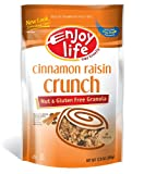 Enjoy Life Cinnamon Raisin Crunch Granola, Gluten, Dairy, Nut & Soy Free, 12.8-Ounce Pouches (Pack of 6)