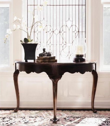 Cheap Demi-Lune Console Table by Kincaid – Hand-rubbed cherry patina (60-025) (60-025)