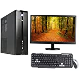 "3YRS WARRANTY SLIM DESKTOP WITH QUAD CORE CPU / 4GB RAM/ 1TB HDD / ATX CABINET WITH 18.5"" LED DESKTOP PC COMPUTER"