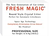 Fresh Magic Crystal Litter ROUND Style-18 Lb Box. Designed For AUTOMATIC LITTERBOX - FREE SHIP - Save$ on Larger Sizes