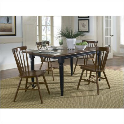 Buy Low Price Liberty Furniture Creations II Casual Butterfly Leaf Dining Table in Black and Tobacco (48-T300)