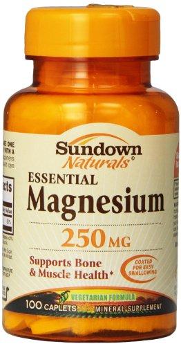 Sundown Naturals Magnesium, 250 Mg, 100 Caplets