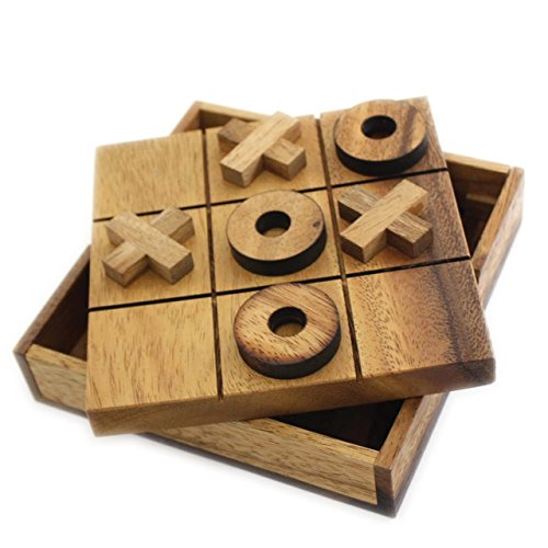 Tic Tac Toe Tactile Wooden Game (Tic Tac Toe Game compare prices)