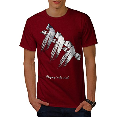 Seagull Bird Print Nature Flight Men NEW Red M T-shirt | Wellcoda