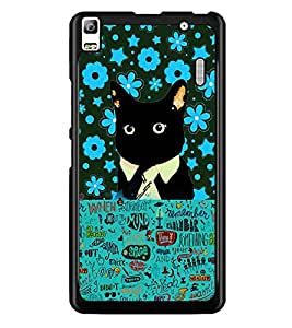 PrintDhaba Typography D-2553 Back Case Cover for LENOVO A7000 (Multi-Coloured)
