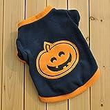 dog puppy t-shirts fleece warm clothes cute dress halloween pumpkin