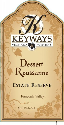 Nv Keyways Vineyard And Winery Estate Reserve Dessert Roussanne, Temecula Valley 750 Ml